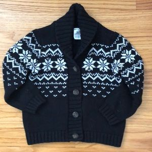 Adorable winter-themed unisex cardigan!